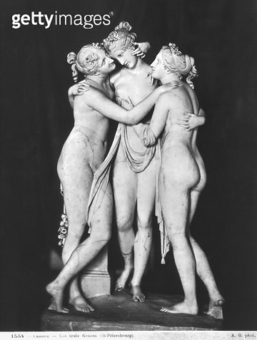 <b>Title</b> : Three Graces, 1812-16 (marble) (see also 266965 and 266966)Additional InfoLes trois graces;<br><b>Medium</b> : <br><b>Location</b> : Hermitage, St. Petersburg, Russia<br> - gettyimageskorea