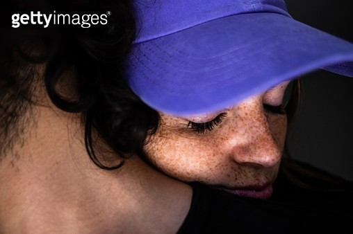 Close-Up Portrait Of Young Woman - gettyimageskorea