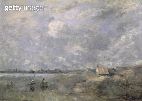 <b>Title</b> : Stormy Weather, Pas de Calais, c.1870 (oil on canvas)<br><b>Medium</b> : oil on canvas<br><b>Location</b> : Pushkin Museum, Moscow, Russia<br> - gettyimageskorea