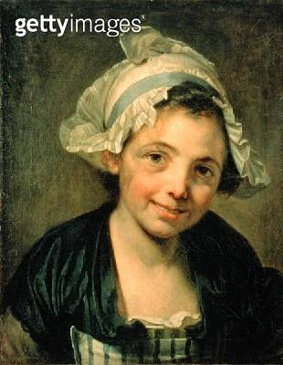 <b>Title</b> : Girl in a Bonnet, 1760s (oil on canvas)<br><b>Medium</b> : oil on canvas<br><b>Location</b> : Hermitage, St. Petersburg, Russia<br> - gettyimageskorea