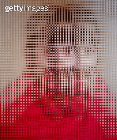 Distorted in Red - gettyimageskorea