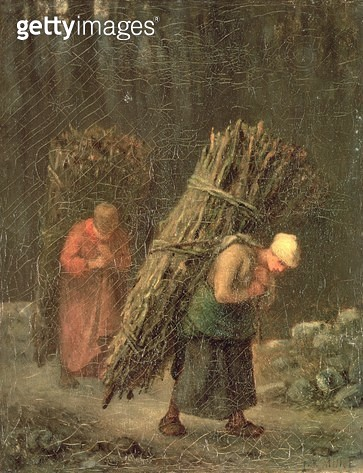 <b>Title</b> : Peasant Women with Brushwood, c.1858 (oil on canvas)<br><b>Medium</b> : oil on canvas<br><b>Location</b> : Hermitage, St. Petersburg, Russia<br> - gettyimageskorea