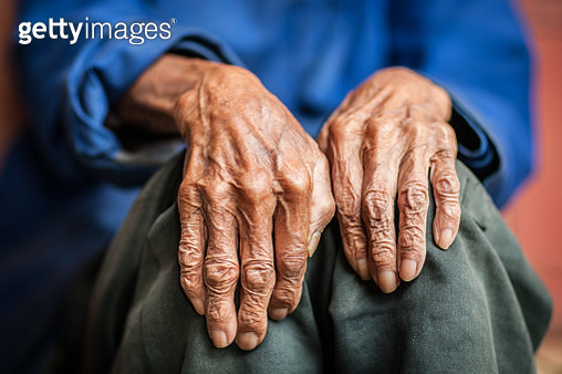 Midsection Of Senior Person - gettyimageskorea