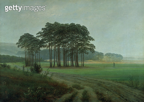 <b>Title</b> : Midday, 1820-25 (oil on canvas)<br><b>Medium</b> : oil on canvas<br><b>Location</b> : Niedersachsisches Landesmuseum, Hanover, Germany<br> - gettyimageskorea