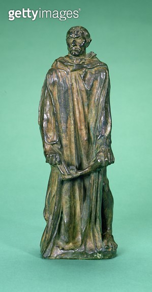 <b>Title</b> : Jean d'Aire, from the Burghers of Calais (bronze) (see also 4828 & 167162)Additional Infohero of the Hundred Years War; burghers<br><b>Medium</b> : bronze<br><b>Location</b> : Private Collection<br> - gettyimageskorea