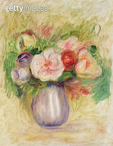 <b>Title</b> : Vase of Flowers (oil on canvas)<br><b>Medium</b> : oil on canvas<br><b>Location</b> : Private Collection<br> - gettyimageskorea