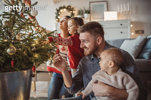 Happy family prepare for Christmas - gettyimageskorea