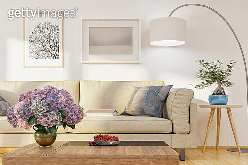 Living room, modern sofa - gettyimageskorea