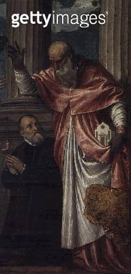St. Jerome and a Donor (oil on canvas) - gettyimageskorea