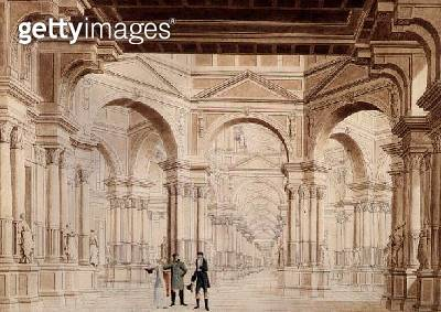 A Classical Sculpture Gallery/ 1815 (drawing) - gettyimageskorea