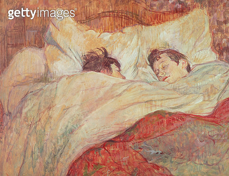 <b>Title</b> : The Bed, c.1892-95 (oil on cardboard)<br><b>Medium</b> : oil on cardboard<br><b>Location</b> : Musee d'Orsay, Paris, France<br> - gettyimageskorea