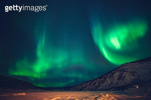 Aurora borealis,Yukon Territory,Canada - gettyimageskorea