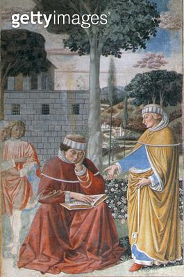 Episodes from the Life of St. Augustine/ 1463-65 (fresco) (detail of 192552) - gettyimageskorea