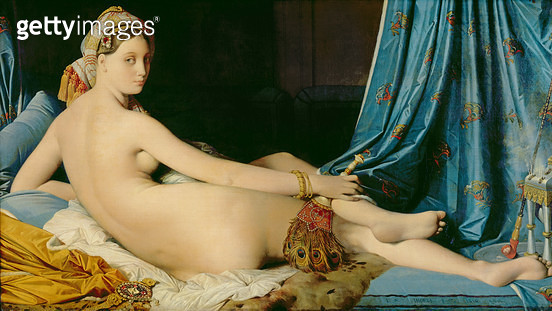 <b>Title</b> : The Grande Odalisque, 1814 (oil on canvas)<br><b>Medium</b> : oil on canvas<br><b>Location</b> : Louvre, Paris, France<br> - gettyimageskorea