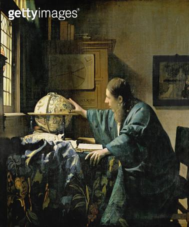 <b>Title</b> : The Astronomer, 1668 (oil on canvas) 88;l'Astronome ou plutot l'astrologue;<br><b>Medium</b> : oil on canvas<br><b>Location</b> : Louvre, Paris, France<br> - gettyimageskorea