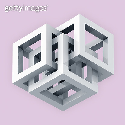 Intersecting cubes - gettyimageskorea
