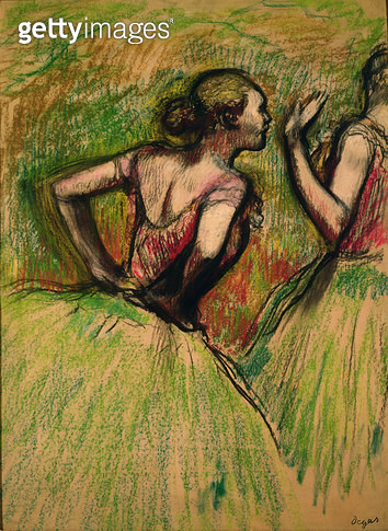 <b>Title</b> : Dancers, 1895 (pastel and charcoal on paper)<br><b>Medium</b> : pastel and charcoal on paper<br><b>Location</b> : Private Collection<br> - gettyimageskorea