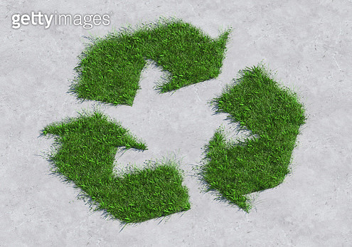 Green recycle sign - gettyimageskorea