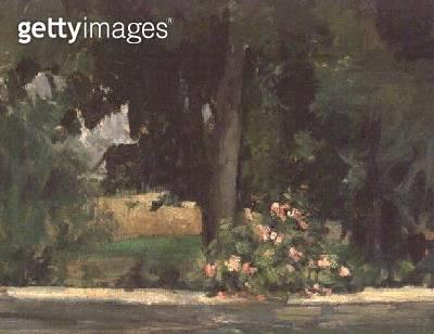 <b>Title</b> : The Lake at Jas de Bouffan, c.1873-76 (oil on canvas)Additional InfoJas de Bouffan = Cezanne family estate outside Aix;<br><b>Medium</b> : oil on canvas<br><b>Location</b> : Sheffield Galleries and Museums Trust, UK<br> - gettyimageskorea
