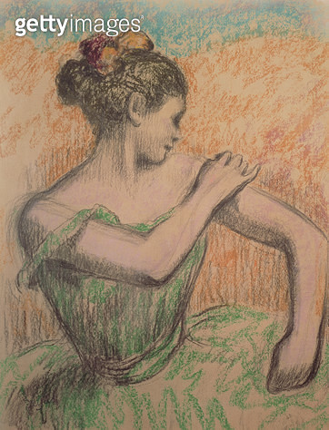 <b>Title</b> : Dancer, 1882-95 (pastel on paper)<br><b>Medium</b> : pastel on paper<br><b>Location</b> : Private Collection<br> - gettyimageskorea