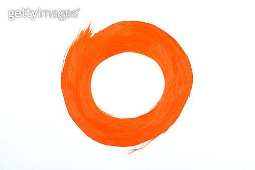 Orange paint stroke - gettyimageskorea