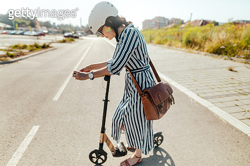 Commute to work by electric scooter - gettyimageskorea