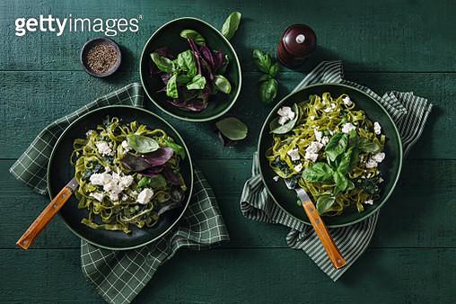 Vegan Gluten-Free Creamy Spinach Pasta - gettyimageskorea