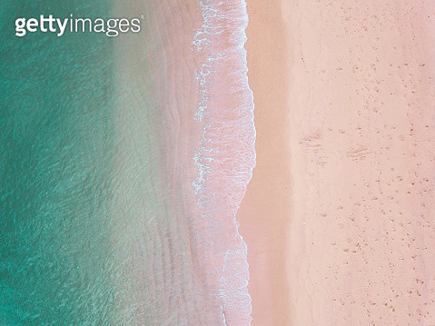 Sea, waves and pink sand - gettyimageskorea