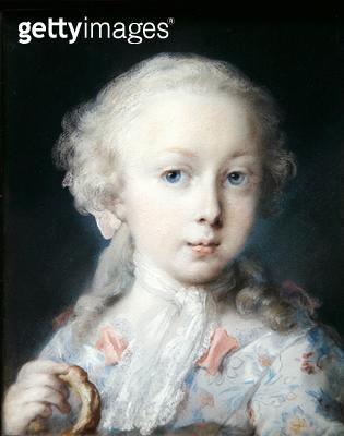 <b>Title</b> : Portrait of a Girl with a Bussola, 1725 (pastel on paper)Additional InfoRitratto di bambina con ciambella;<br><b>Medium</b> : pastel on paper<br><b>Location</b> : Galleria dell' Accademia, Venice, Italy<br> - gettyimageskorea