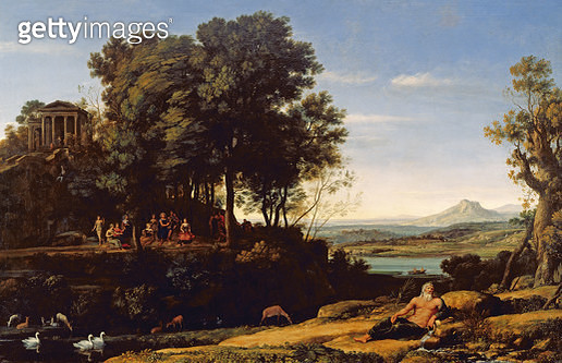 <b>Title</b> : Landscape with Apollo and the Muses, 1652<br><b>Medium</b> : oil on canvas<br><b>Location</b> : National Gallery of Scotland, Edinburgh, Scotland<br> - gettyimageskorea