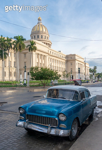 El Capitolio, or the National Capitol Building is a public edifice and one of the most visited sites in Havana, capital of Cuba. - gettyimageskorea