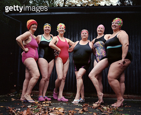 Wild Swimming Women's Group Autumnal Swim - gettyimageskorea