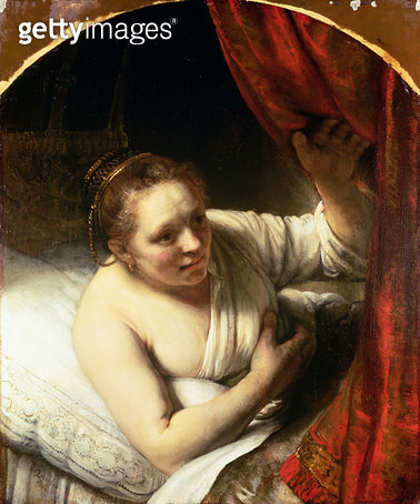 Woman in bed/ c.1645-46 (oil on canvas) - gettyimageskorea