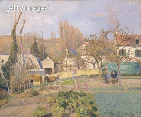 <b>Title</b> : Kitchen garden at the Hermitage, Pontoise, 1874<br><b>Medium</b> : oil on canvas<br><b>Location</b> : National Gallery of Scotland, Edinburgh, Scotland<br> - gettyimageskorea