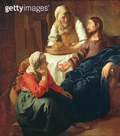 <b>Title</b> : Christ in the House of Martha and Mary, c.1654-56<br><b>Medium</b> : oil on canvas<br><b>Location</b> : National Gallery of Scotland, Edinburgh, Scotland<br> - gettyimageskorea