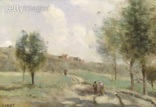 <b>Title</b> : Coubron: Ascending Path<br><b>Medium</b> : oil on canvas<br><b>Location</b> : Private Collection<br> - gettyimageskorea