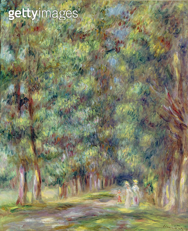 <b>Title</b> : Path in a Wood, 1910 (oil on canvas)<br><b>Medium</b> : oil on canvas<br><b>Location</b> : Musee Renoir, Les Collettes, Cagnes-sur-Mer, France<br> - gettyimageskorea