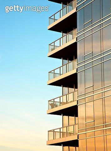 Balconies on Skyscraper - gettyimageskorea