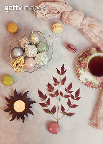 Toyon Berry Leaves with Tea - gettyimageskorea