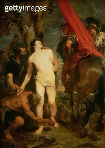 Saint Sebastian bound for martyrdom/ c.1621-23 - gettyimageskorea