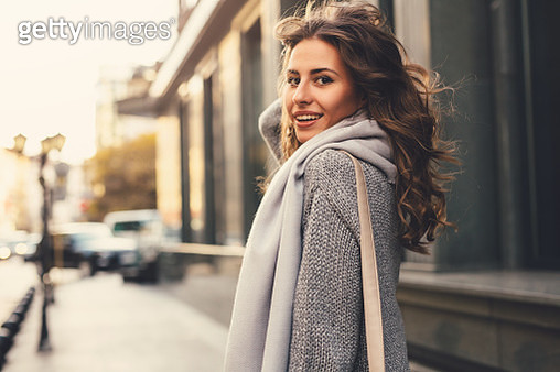 Beautiful woman in the city - gettyimageskorea