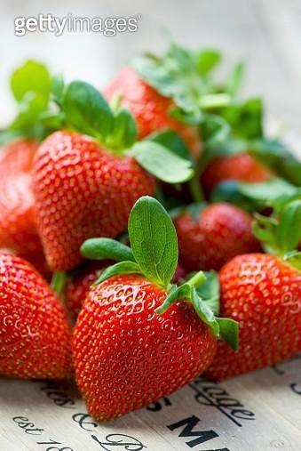 Overall of strawberries - gettyimageskorea