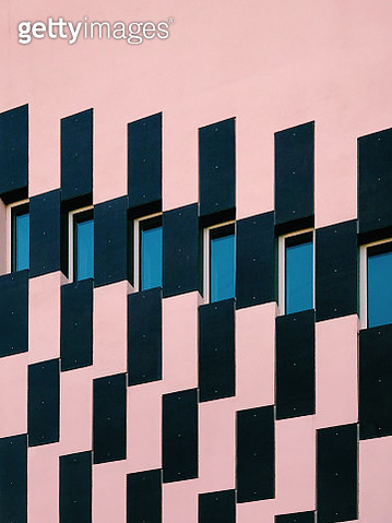 Geometric shapes in a building facade - gettyimageskorea