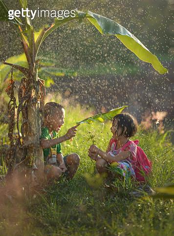 Happiness on the rain - gettyimageskorea