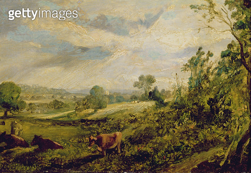 <b>Title</b> : A Summer Evening<br><b>Medium</b> : oil on canvas<br><b>Location</b> : Russell-Cotes Art Gallery and Museum, Bournemouth, UK<br> - gettyimageskorea