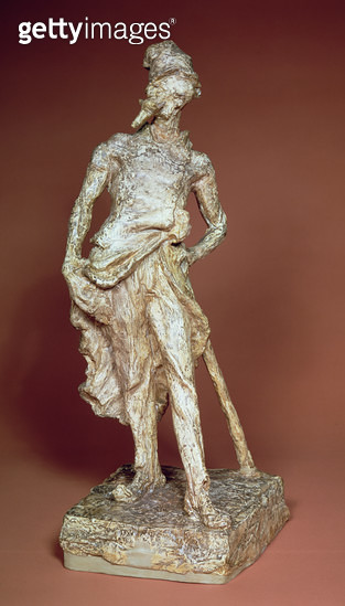 <b>Title</b> : Ratapoil, toned plaster sculpture by Honore Daumier (1808-79), 1850-51<br><b>Medium</b> : toned plaster<br><b>Location</b> : Albright Knox Art Gallery, Buffalo, New York, USA<br> - gettyimageskorea