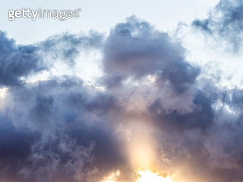 Full frame of the low angle view of clouds In sky during sunset. Valencian Community, Spain - gettyimageskorea