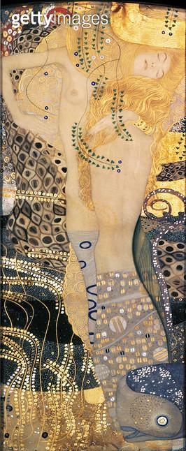 <b>Title</b> : Water Serpents I, 1904-07 (oil on canvas)<br><b>Medium</b> : oil on canvas<br><b>Location</b> : Osterreichische Galerie Belvedere, Vienna, Austria<br> - gettyimageskorea
