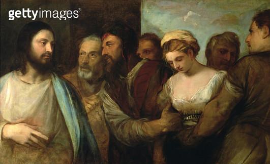 <b>Title</b> : Christ and the adulteress, 1512-15<br><b>Medium</b> : oil on canvas<br><b>Location</b> : Kunsthistorisches Museum, Vienna, Austria<br> - gettyimageskorea