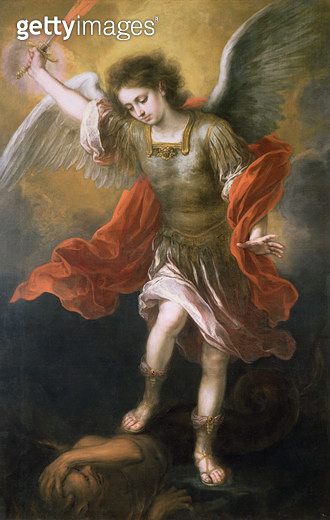 <b>Title</b> : Saint Michael banishes the devil to the abyss, 1665/68<br><b>Medium</b> : oil on canvas<br><b>Location</b> : Kunsthistorisches Museum, Vienna, Austria<br> - gettyimageskorea